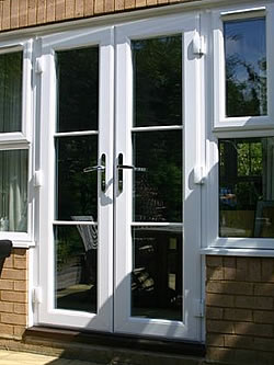 French doors milton keynes double glazing buckinghamshire for Small exterior french doors