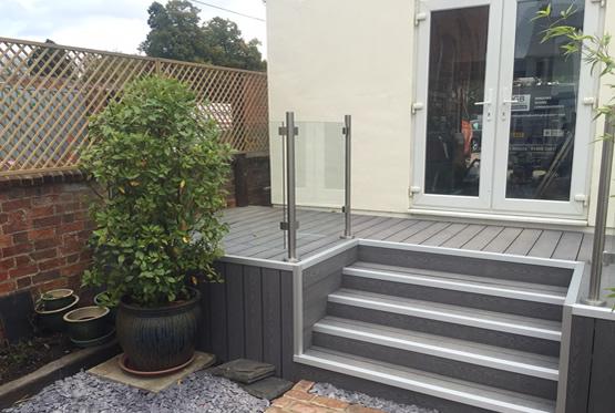 PVC sliding sash windows, aluminium bifolding doors & composite decking Newport Pagnell, Beaconsfield, Bukinghamshire