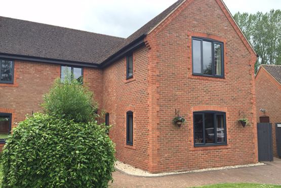 Grey Flush Aluminium Windows & Patio Doors in Bicester, Oxfordshire